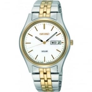 Gents Two Tone Stainless Steel Solar Watch SNE032P1