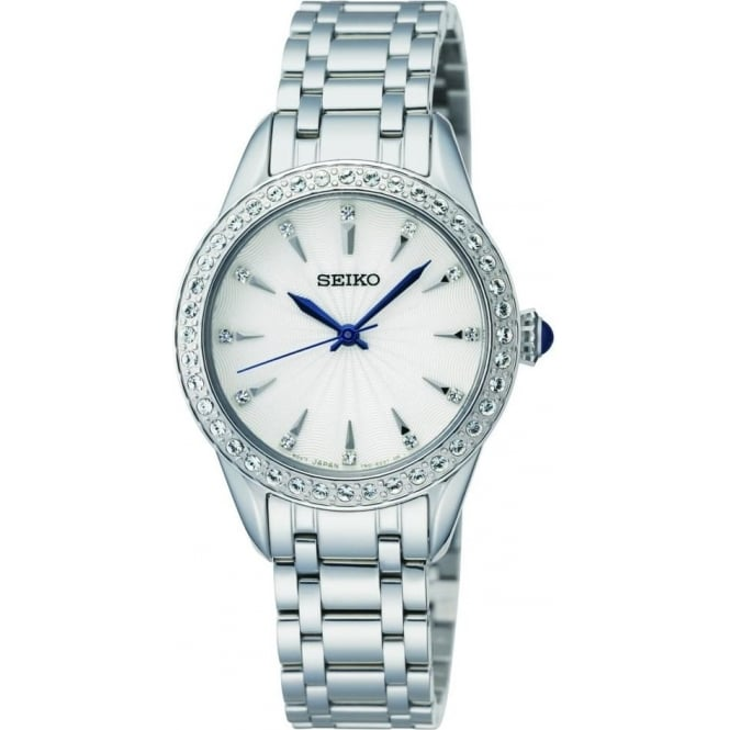 Seiko Watches Ladies Stainless Steel Quartz Bracelet Watch SRZ385P1
