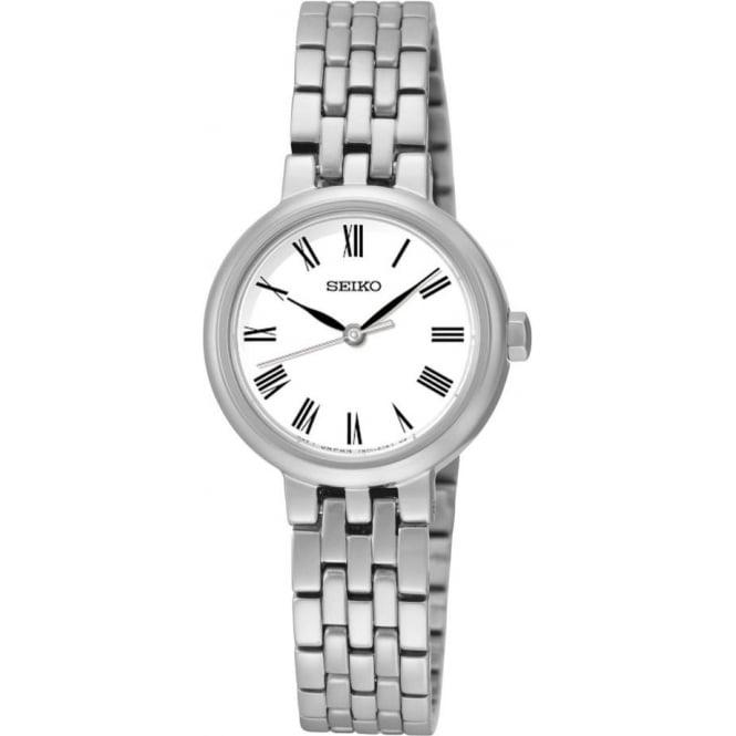 Seiko Watches Ladies Stainless Steel Seiko Quartz Watch on Bracelet SRZ461P1