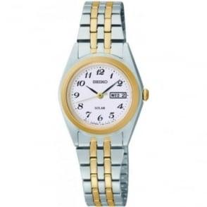 Ladies  Two Tone Solar Watch on Bracelet SUT116P9