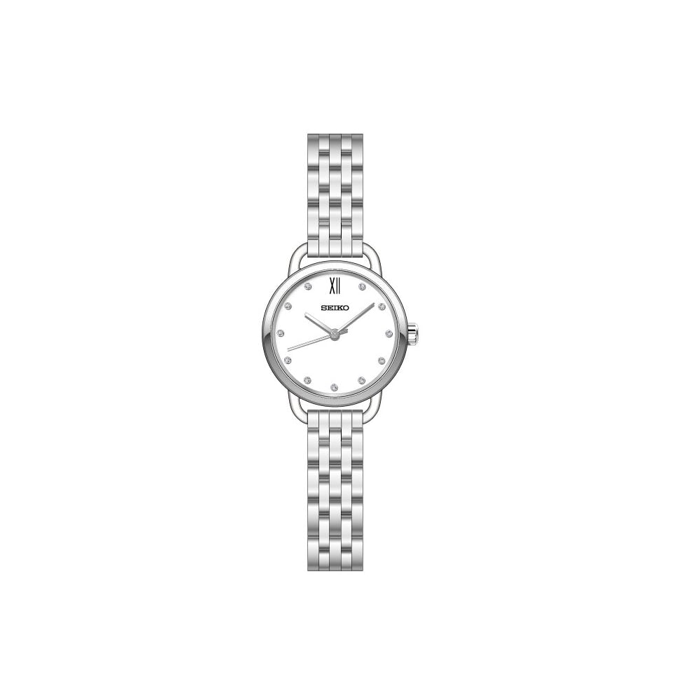 white bracelet watches watch stainless city image steel swarovski simple