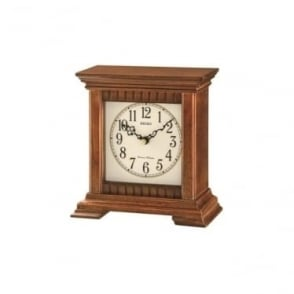 Seiko Wooden Battery Mantle Clock with Chime QXJ028B