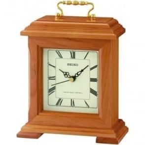Seiko Clocks Seiko Wooden Radio Controlled Quartz Mantle Clock QXR304B