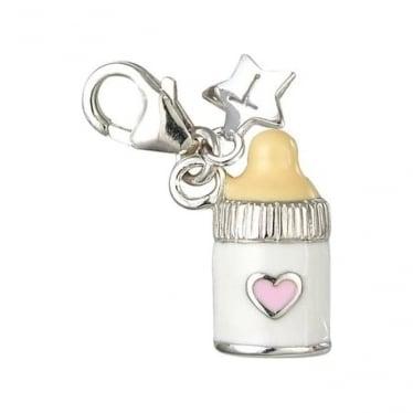 Silver Baby Bottle Charm SCH18