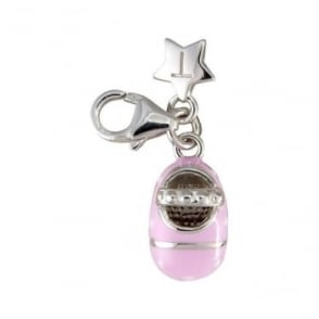 Silver Baby Shoe Charm SCH46