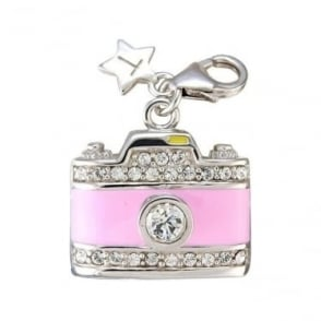 Silver Crystal Set Camera Charm SCH67