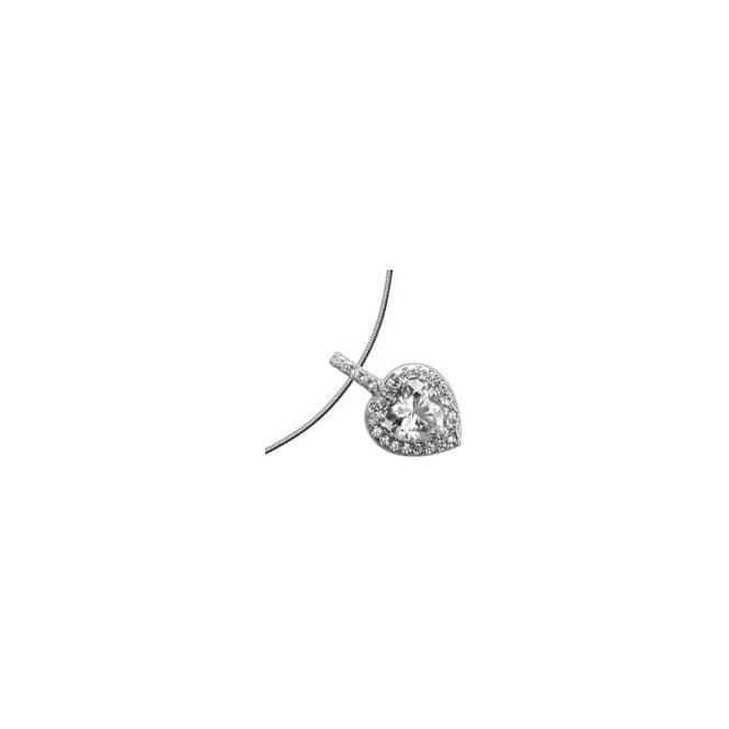 Diamonfire Silver Diamonfire Cubic Zirconia Heart Pendant 65-1199-1-082