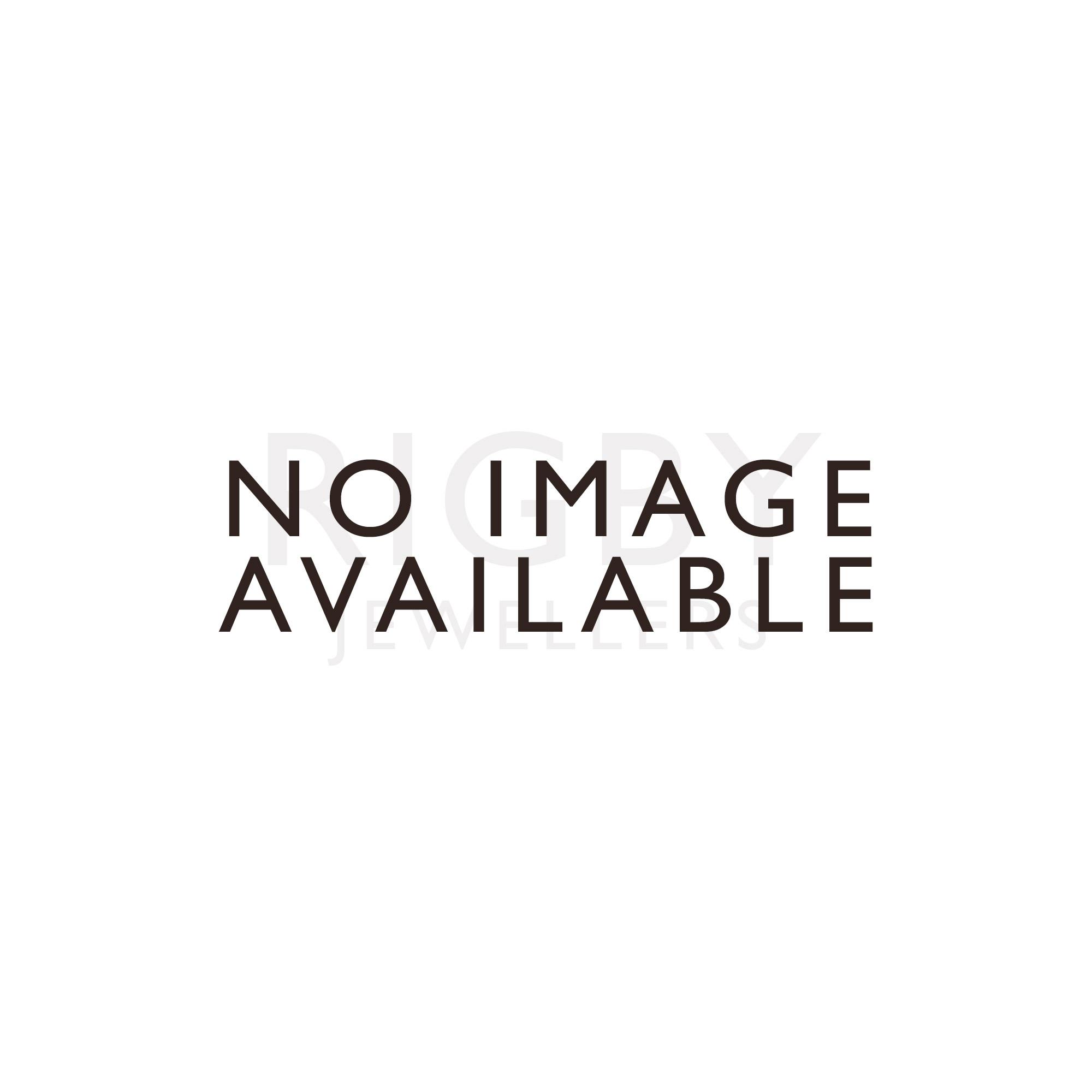 Silver Finish Glass Quartz Mantle Clock 17125