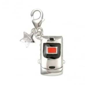 Silver Mobile Phone Charm SCH26