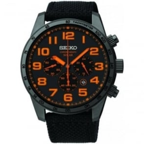 Solar Chronograph Watch with Fabric Strap SSC233P9