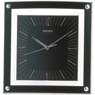 Square Black Quartz Wall Clock 32cm QXA330K