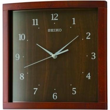 Square Wooden Quartz Battery Wall Clock QXA675Z