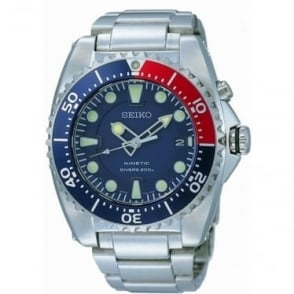 Stainless Steel Gents Kinetic Divers Watch SKA369P1