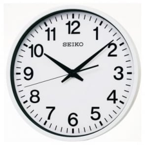 Stainless Steel Seiko GPS Satellite Wall Clock QXZ001W