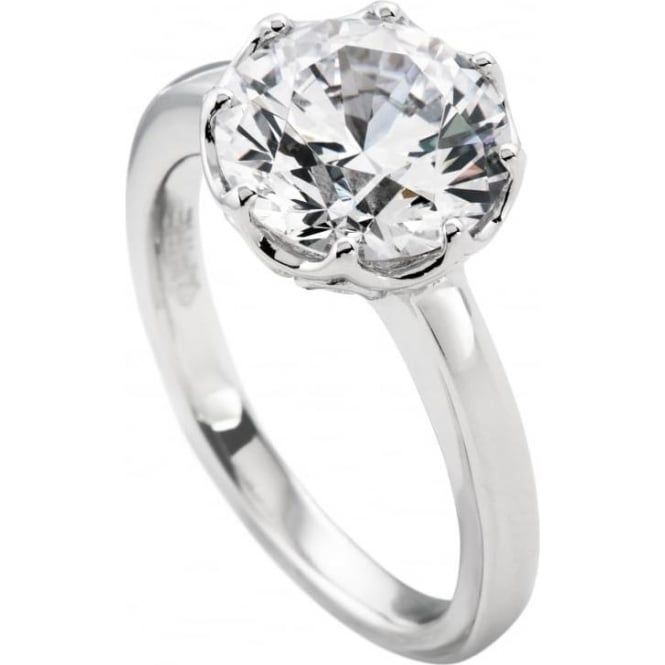 Sterling Silver Brilliant Cut Cubic Zirconia Ring 61/1262/1/082