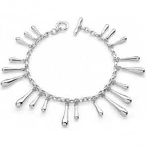 Sterling Silver Drip Bracelet by Lucy Q