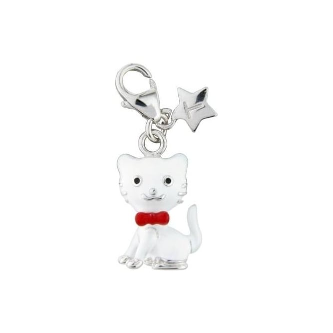 Tingle London Sterling Silver Enamel Cat Charm SCH256