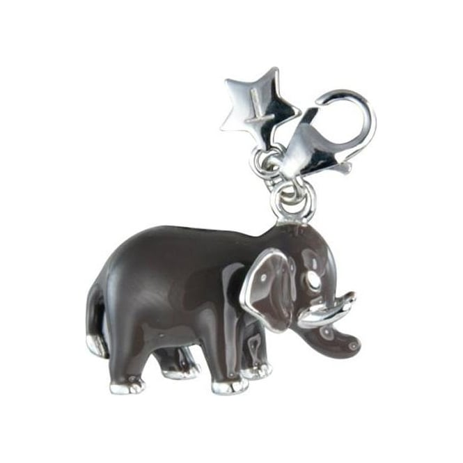 Tingle London Sterling Silver Enamel Elephant Charm SCH178