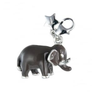 Sterling Silver Enamel Elephant Charm SCH178