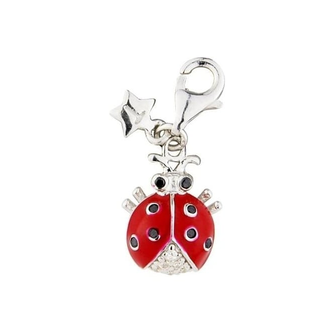 Tingle London Sterling Silver Red Ladybird Charm SCH187