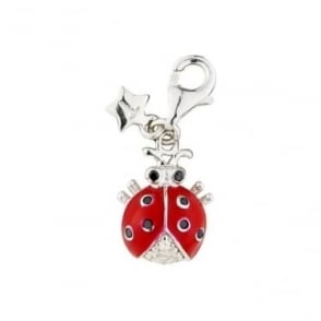 Sterling Silver Red Ladybird Charm SCH187