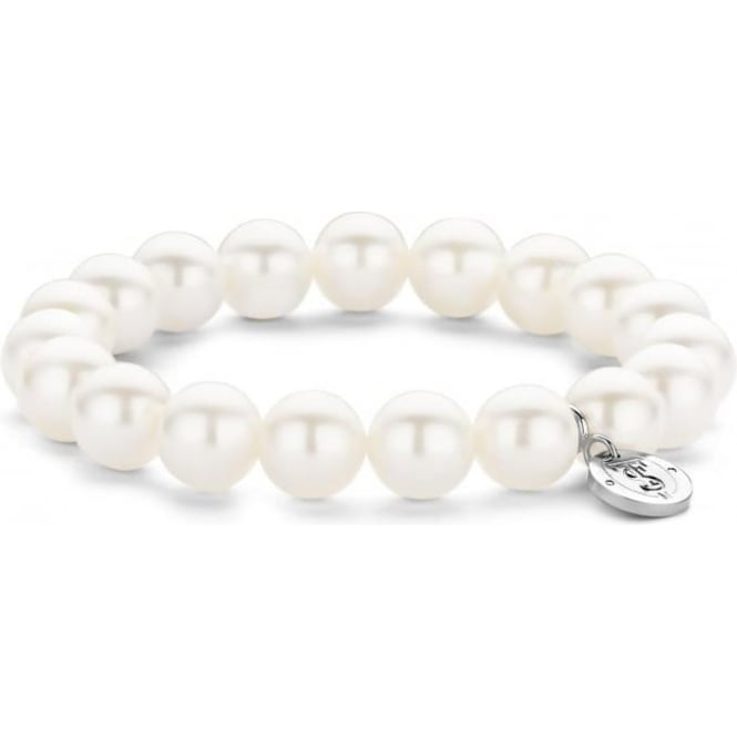 Ti Sento Sterling Silver Simulated White Pearl Bracelet 2524PW