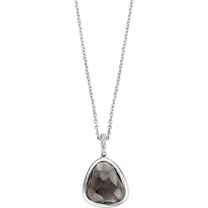 Sterling Silver Translucent Grey Pendant 3857TG