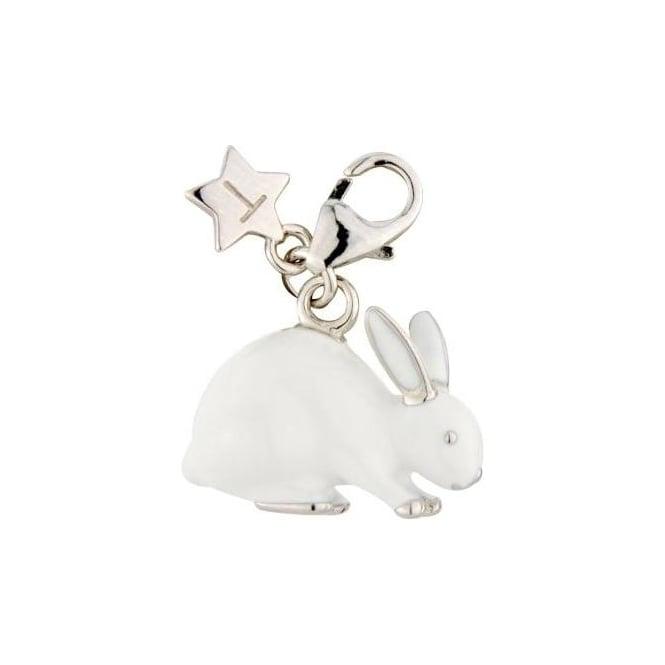 Tingle London Sterling Silver White Enamel Rabbit Charm SCH219