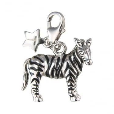 Sterling Silver Zebra Charm SCH158