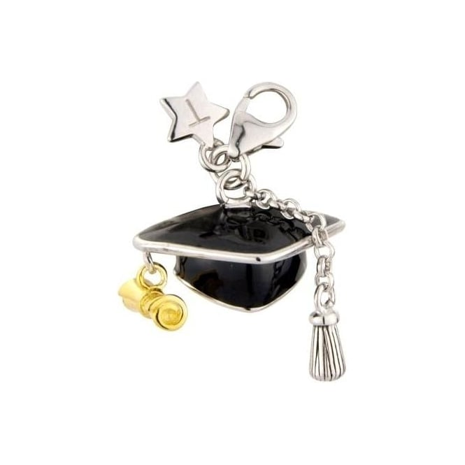 Tingle London Strerling Silver Graduation Hat Charm SCH207