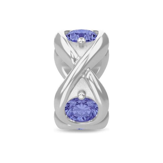 Endless Jewelry Tanzania Blue Infinity Ocean Silver