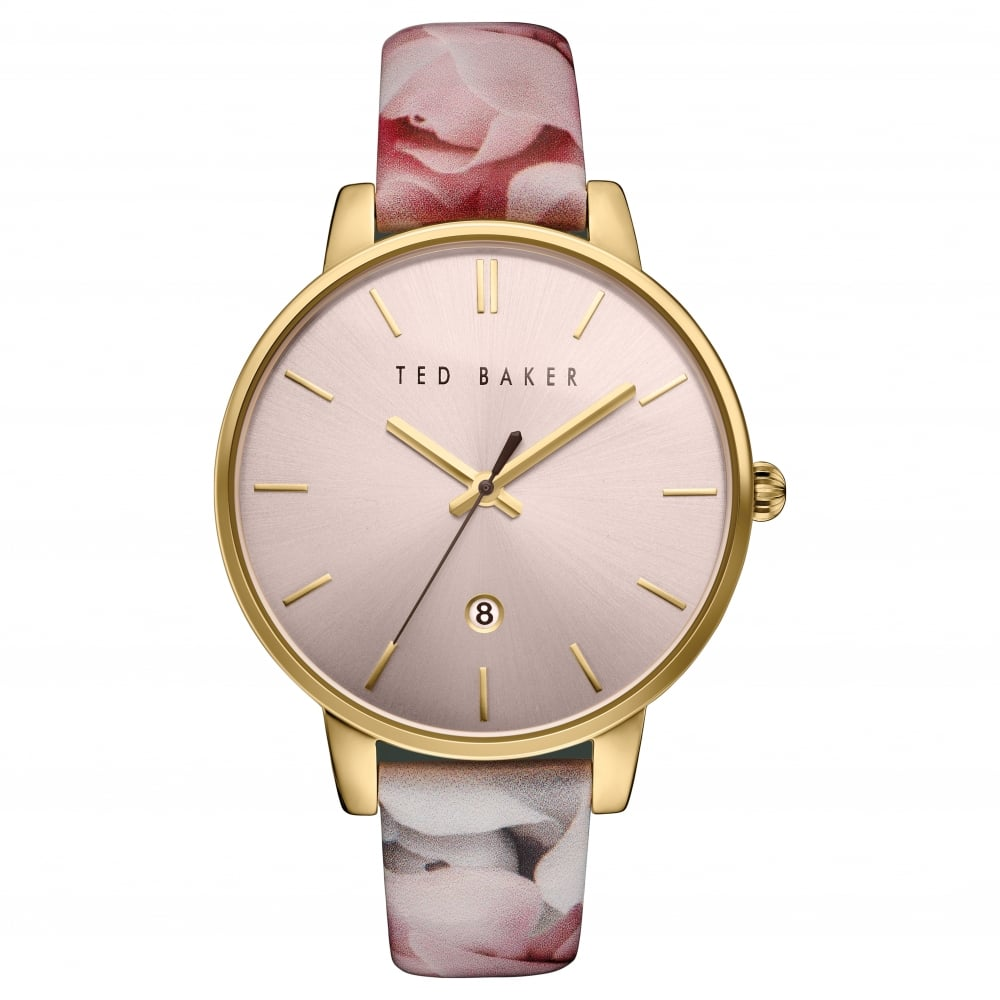 37c8042f7378c Ted Baker Watches Ted Baker Rose Gold Tone Quartz Watch on Floral Strap  TE10030695