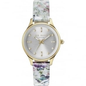 Ladies Gold Tone Ted Baker Quartz Watch on Strap TE10031554