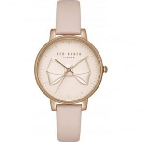 Ladies Rose Gold Tone Watch on Pink Strap TEC0185001