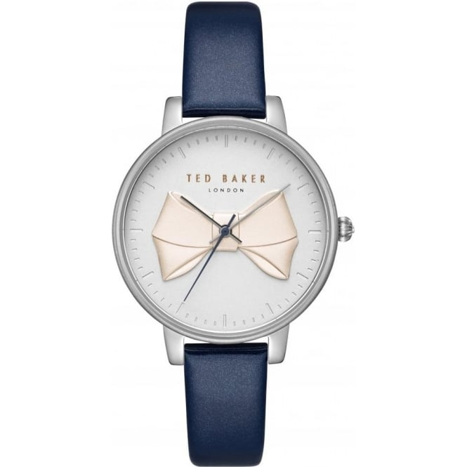 Ted Baker Watches Ladies Stainless Steel Bow Watch on Leather Strap TE15197001