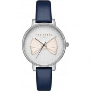 Ladies Stainless Steel Bow Watch on Leather Strap TE15197001