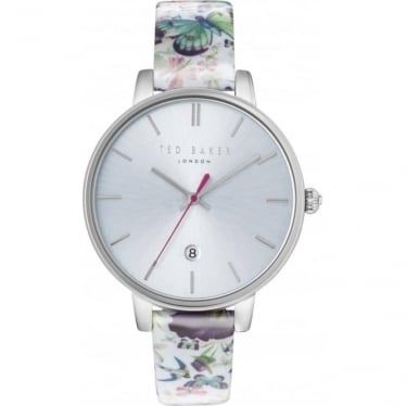 Ladies Steel Ted Baker Watch on Leather Strap & Date TE10031540