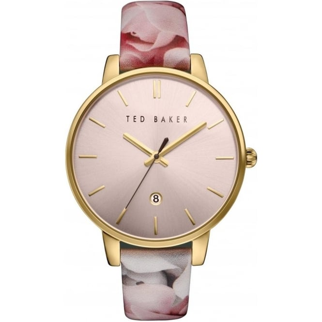 Ted Baker Watches Ted Baker Rose Gold Tone Quartz Watch on Floral Strap TE10030695