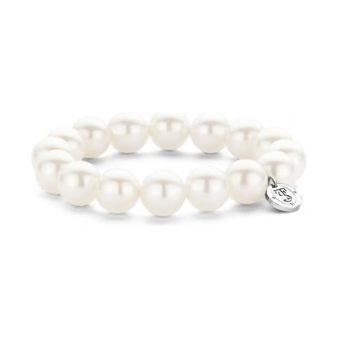 Ti Sento Sterling Silver Simulated White Pearl Bracelet 2525PW