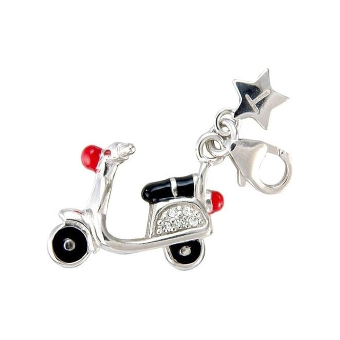 Tingle London Silver Scooter Charm SCH68