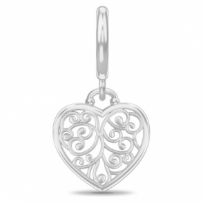 Twisted Heart Silver