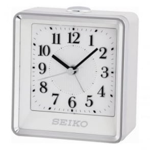 White Beep Alarm clock with Light & Snooze QHE142W