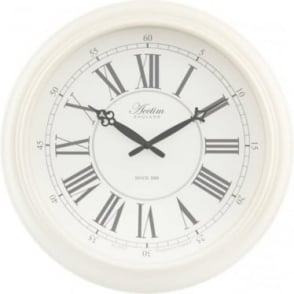 White Round Acctim Quartz Battery Wall Clock Reigham 22082