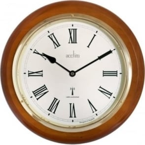 Wood Round Acctim Quartz Battery Wall Clock R/C 74430