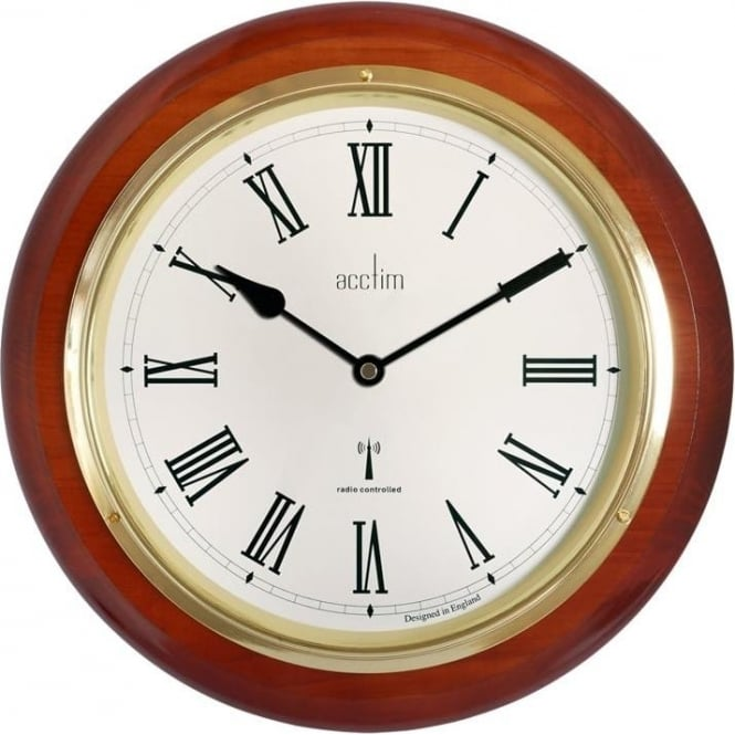 Acctim Wood Round Acctim Quartz Battery Wall Clock R/C 74436