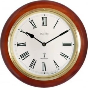 Wood Round Acctim Quartz Battery Wall Clock R/C 74436
