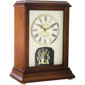Wooden Anniversary Westminster Chime Mantle Clock 06415