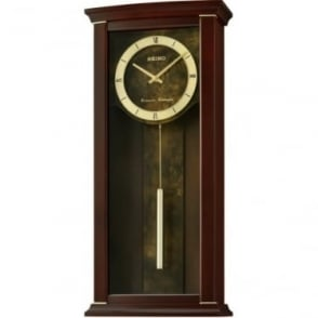 Wooden Westminster Chime Battery Pendulum Wall Clock QXH067B