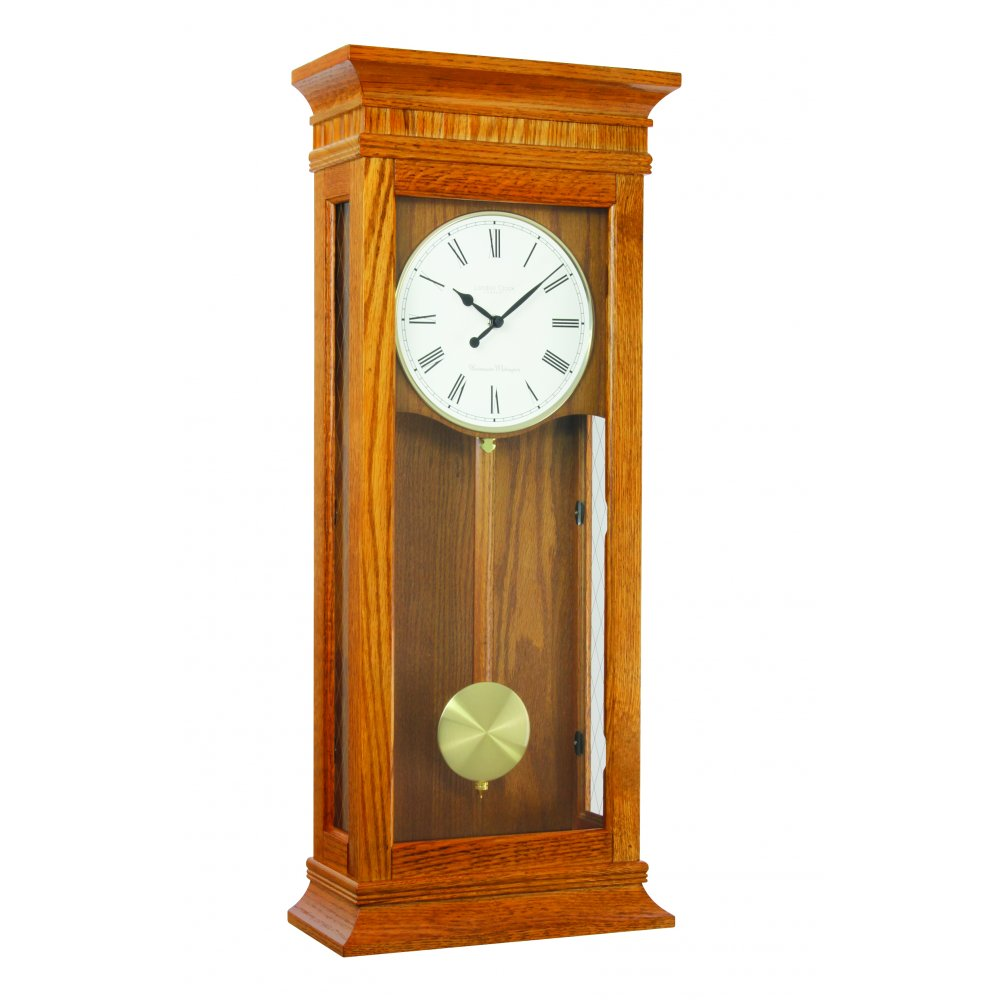 Wooden Westminster Chime Battery Wall Clock By London Clock 25073