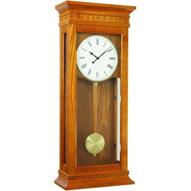 London Clock Company Wooden Westminster Chime Battery Wall Clock 25073